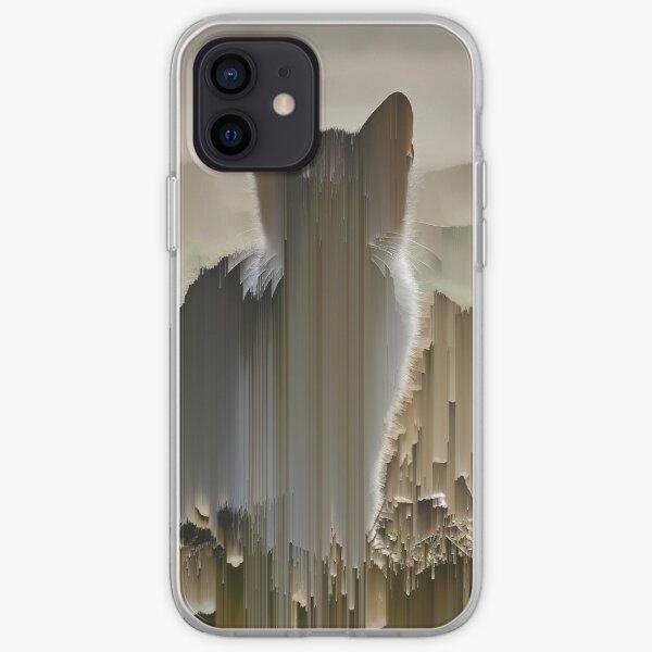 pixel art of cat, pixel sorting iPhone Soft Case