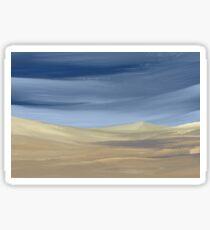 Sweeping desert dune landscape painting  Sticker