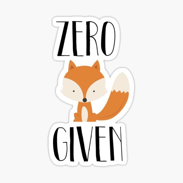 """Zero """"Fox"""" Given Sticker"""
