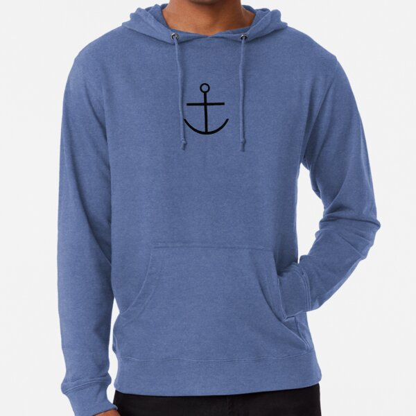 Capitaine Haddock Anchor Shirt Sweat à capuche léger