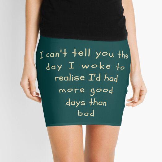 Bipolar depression awareness slogan pyramid Mini Skirt