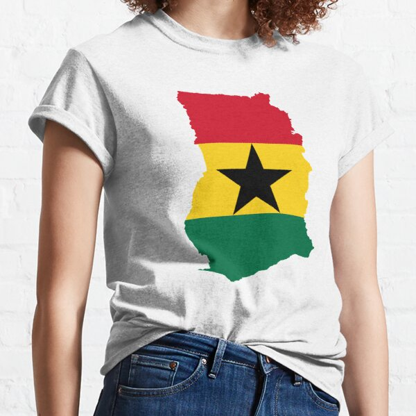 Flag Map of Ghana  Classic T-Shirt