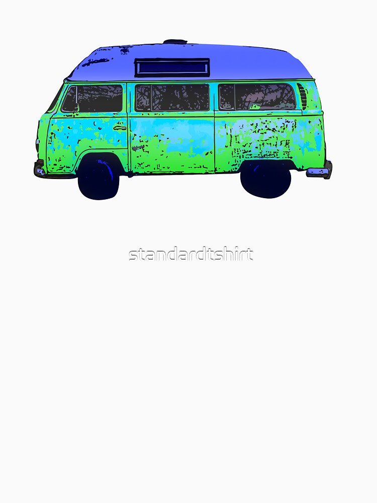 Colorful abstract Van art Graphics Vehicle design Vintage Car Van by standardtshirt