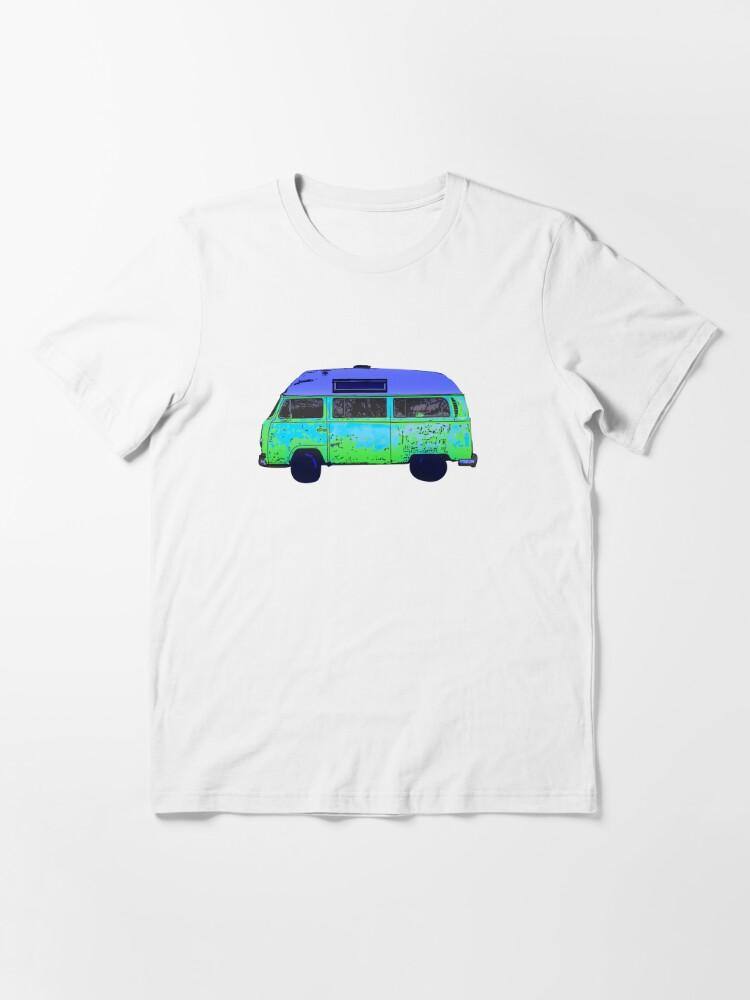 Alternate view of Colorful abstract Van art Graphics Vehicle design Vintage Car Van Essential T-Shirt