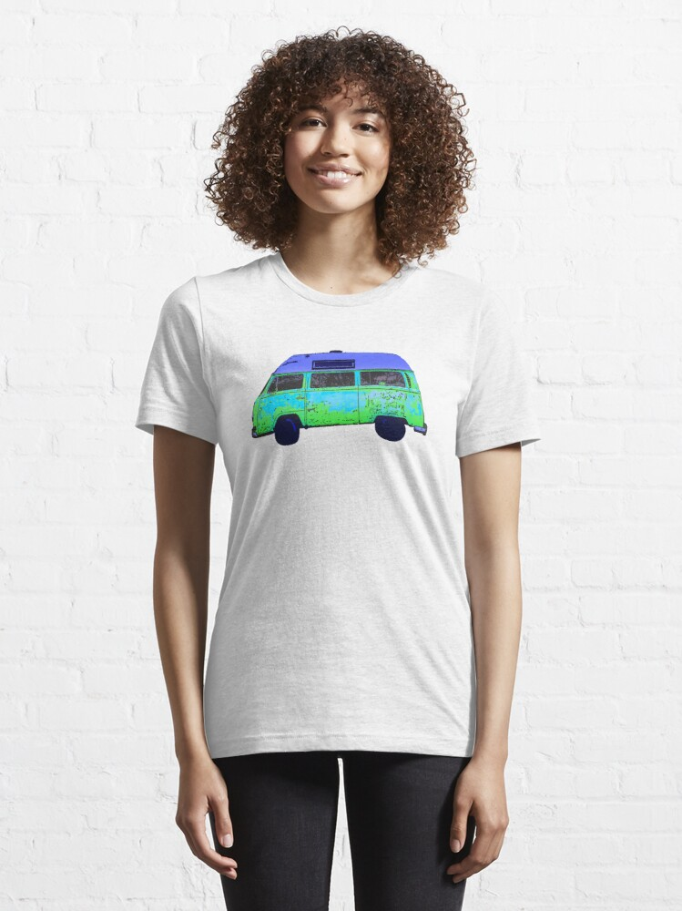 Alternate view of Colorful abstract Van art Graphics Vehicle design Vintage Car Van Essential T-Shirt