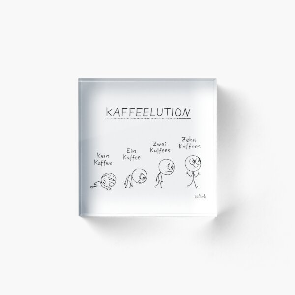 Kaffeelution Acrylblock