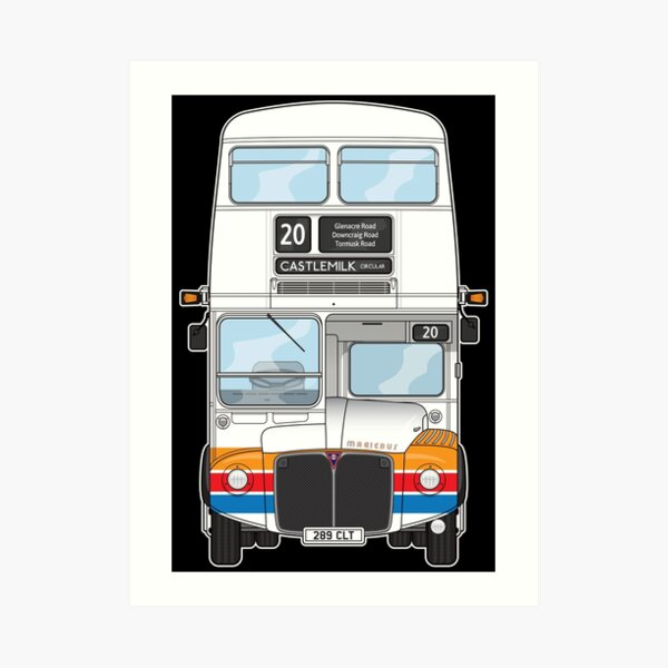 Stagecoach Magicbus Routemaster Bus 80s 289CLT Illustration Art Print