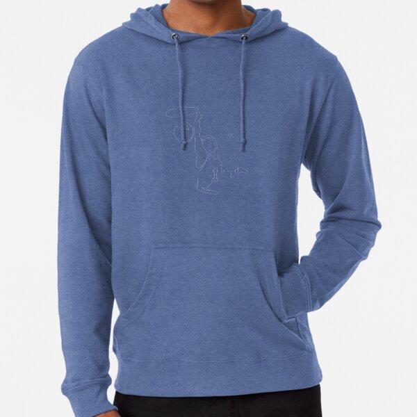 Basketball Minimalist Lineart (T-shirt) Lightweight Hoodie