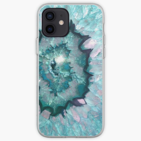 Teal Agate iPhone Soft Case