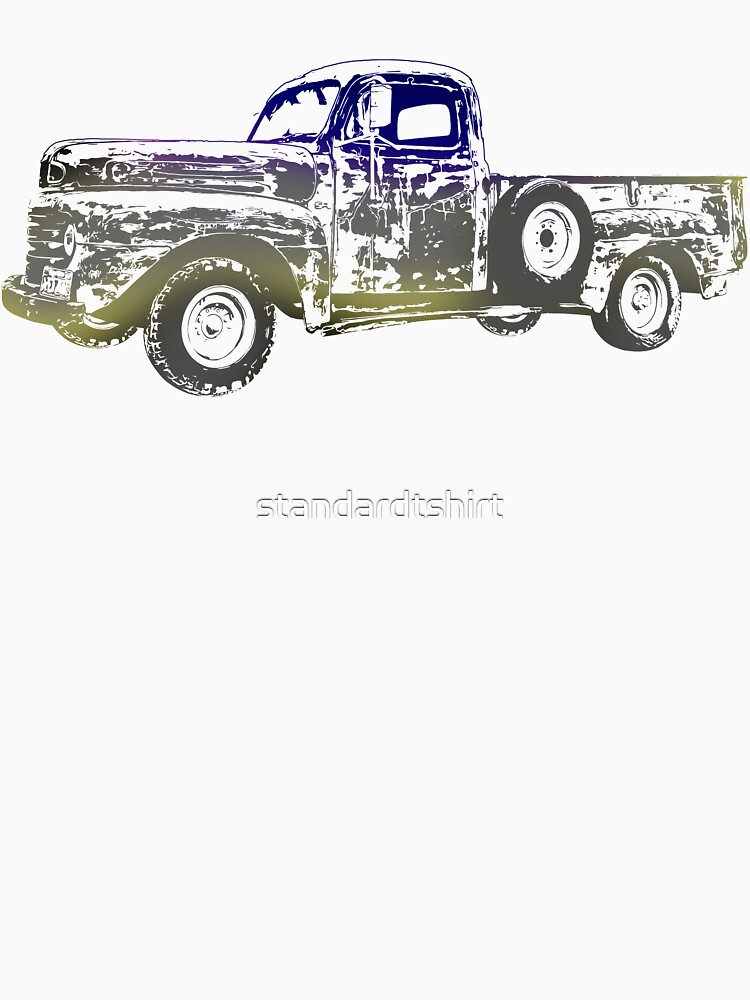 Vintage old Pickup Graphics Abstract Vehicle Cool pickup Design by standardtshirt