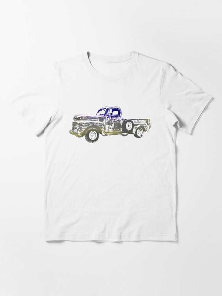 Alternate view of Vintage old Pickup Graphics Abstract Vehicle Cool pickup Design Essential T-Shirt