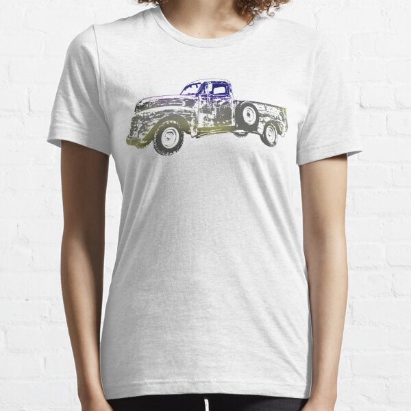 Vintage old Pickup Graphics Abstract Vehicle Cool pickup Design Essential T-Shirt