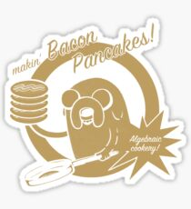 makin bacon pancakes Sticker
