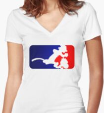 Calvinball Women's Fitted V-Neck T-Shirt