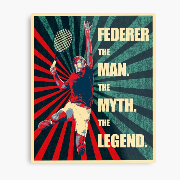 RF Roger Federer Impression métallique