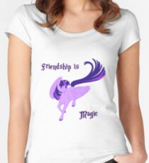 Friendship is Magic Women's Fitted Scoop T-Shirt