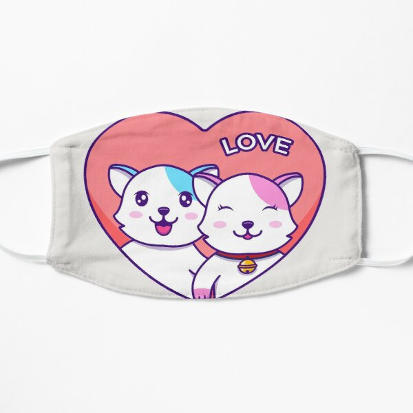 cat couple For Valentine's day Mask