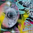 Colorful Graffiti on the textured wall by yurix