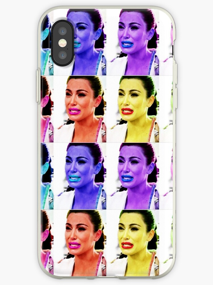 new style a9941 f0ce8 'Ugly Crying Face - Kim K' iPhone Case by jwalkingdesigns