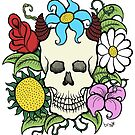 Demon Skull Flowers by Brett Gilbert