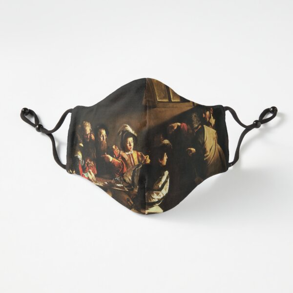 The Calling of Saint Matthew, masterpiece, Michelangelo Merisi da Caravaggio, #People, #group, #adult, #art, music, indoors, furniture, painting, flame, men, home interior, light, natural phenomenon Fitted 3-Layer