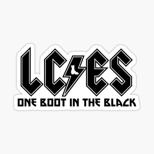LC/ES - ONE BOOT IN THE BLACK Sticker