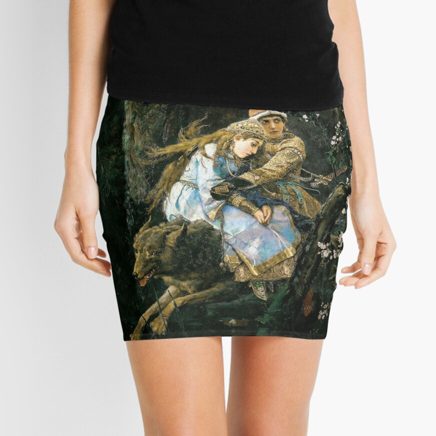 Ivan tsarevich riding the grey wolf Mini Skirt