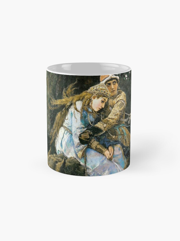 Alternate view of Ivan tsarevich riding the grey wolf Mug