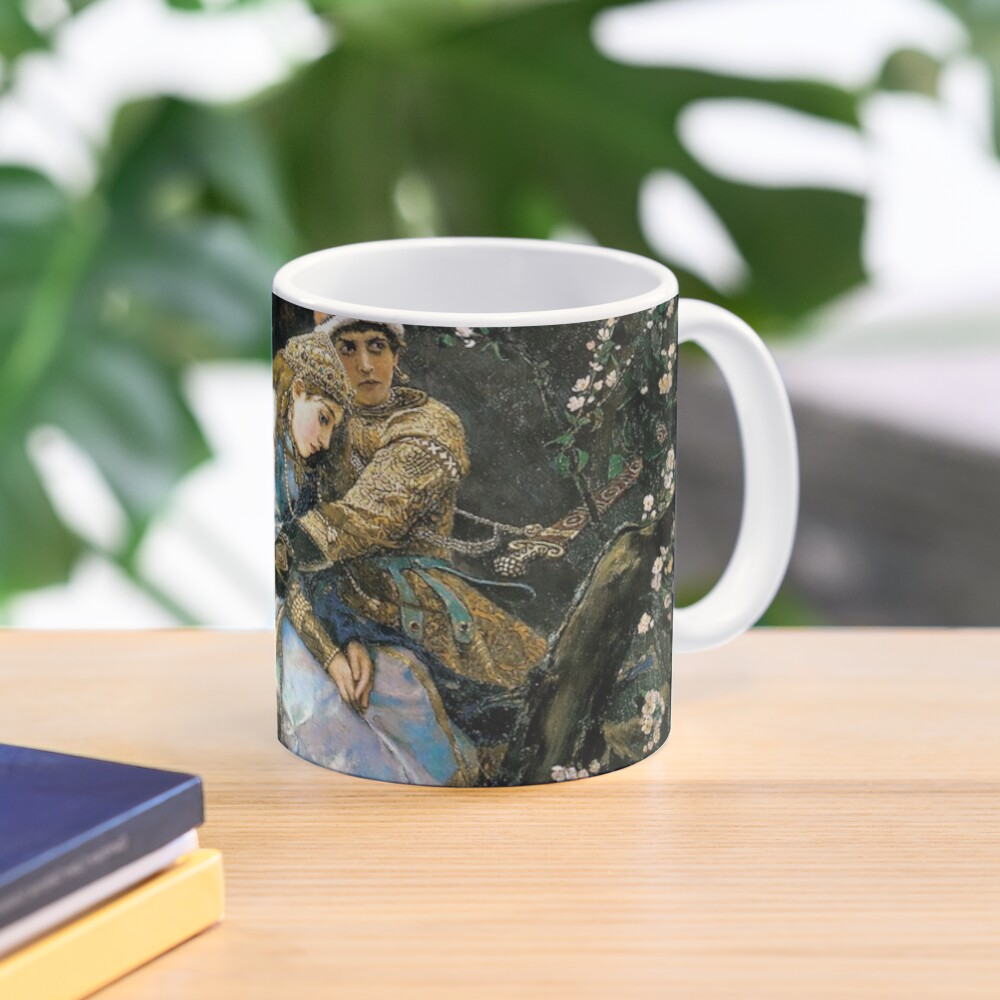 Ivan tsarevich riding the grey wolf Mug