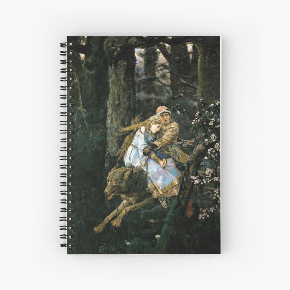 Ivan tsarevich riding the grey wolf Spiral Notebook