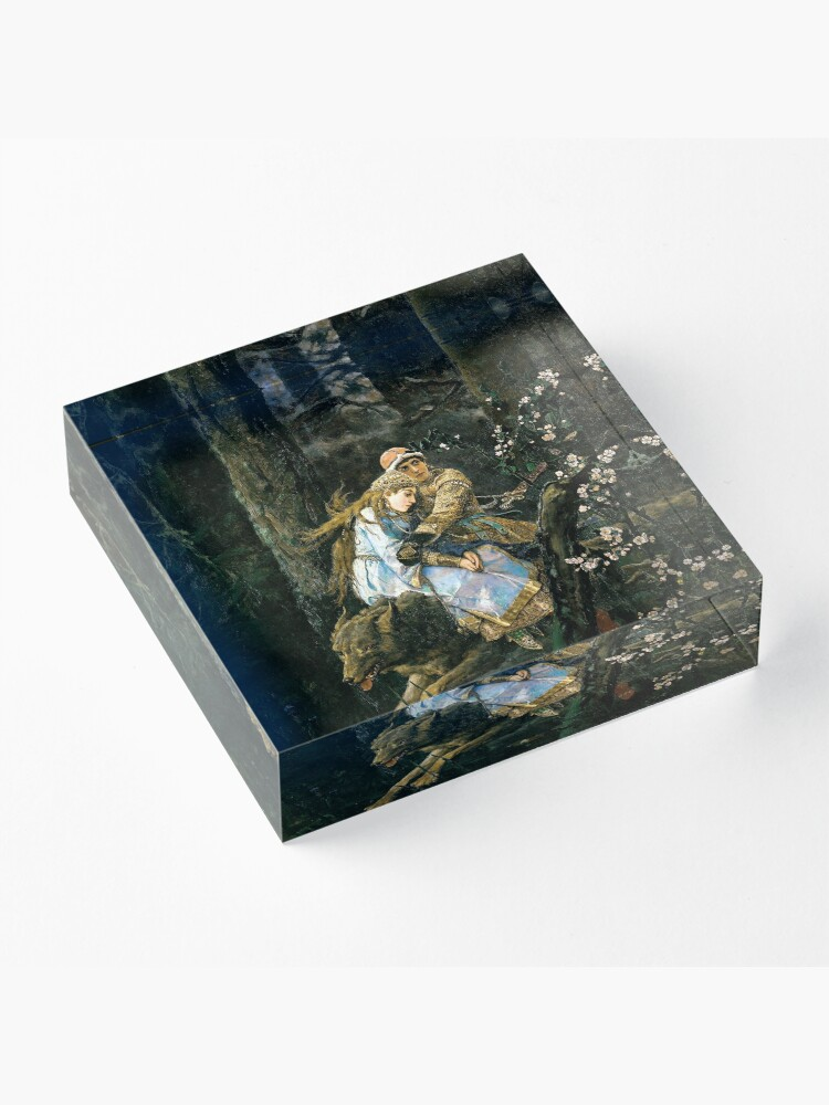 Alternate view of Ivan tsarevich riding the grey wolf Acrylic Block
