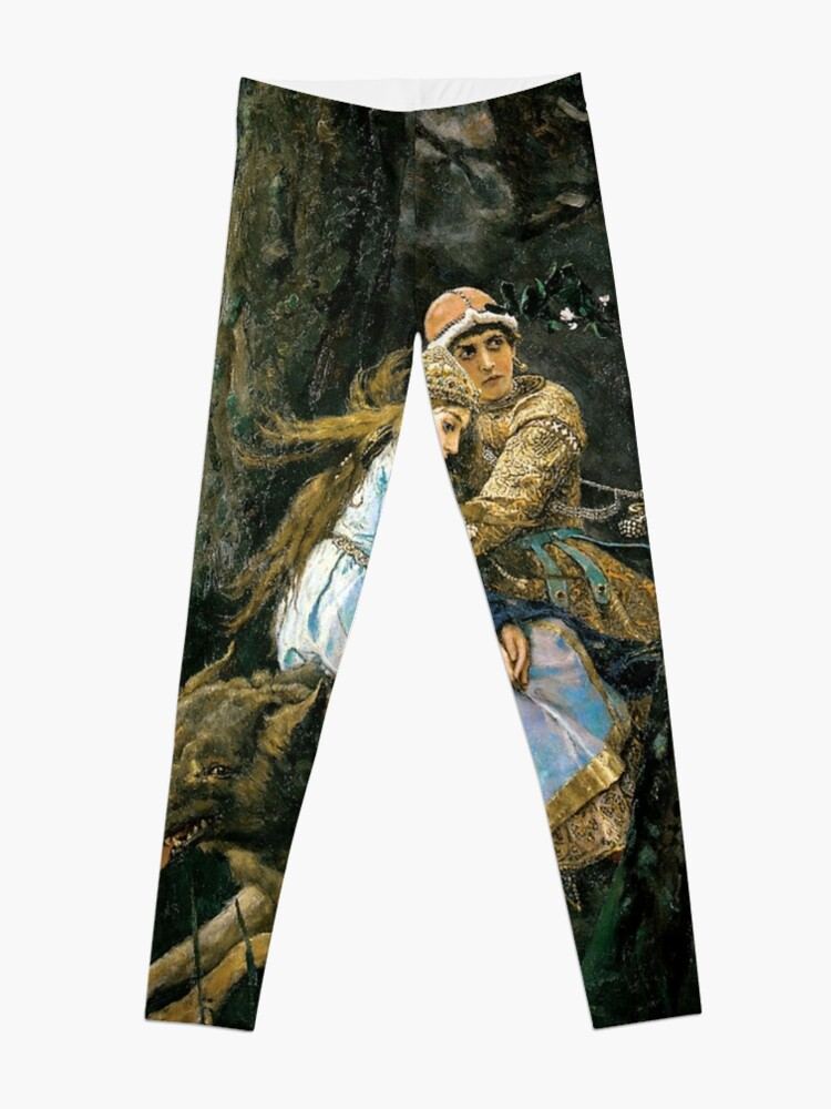 Alternate view of Ivan tsarevich riding the grey wolf Leggings
