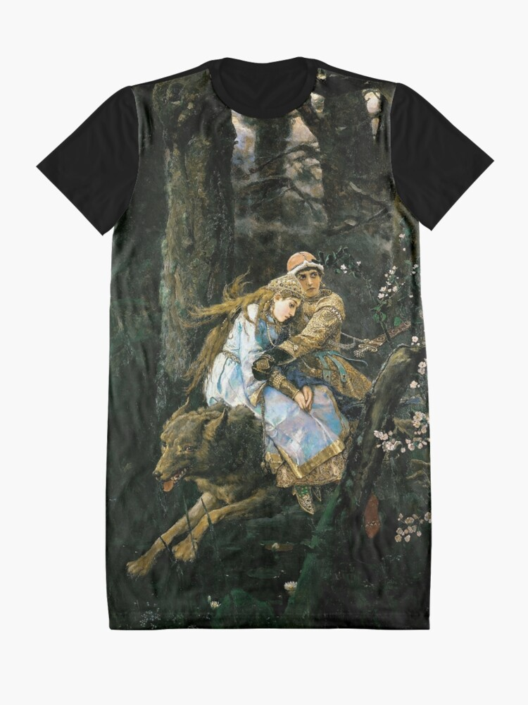 Alternate view of Ivan tsarevich riding the grey wolf Graphic T-Shirt Dress