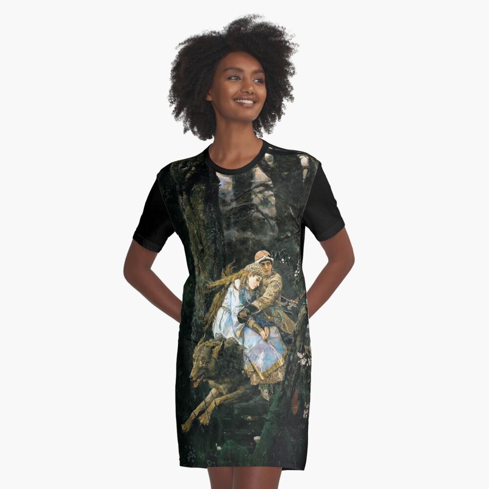 Ivan tsarevich riding the grey wolf Graphic T-Shirt Dress