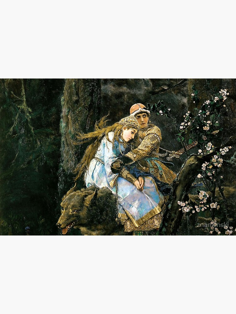 Ivan tsarevich riding the grey wolf by znamenski