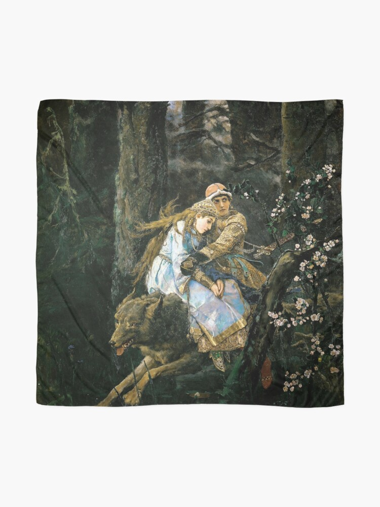 Alternate view of Ivan tsarevich riding the grey wolf Scarf