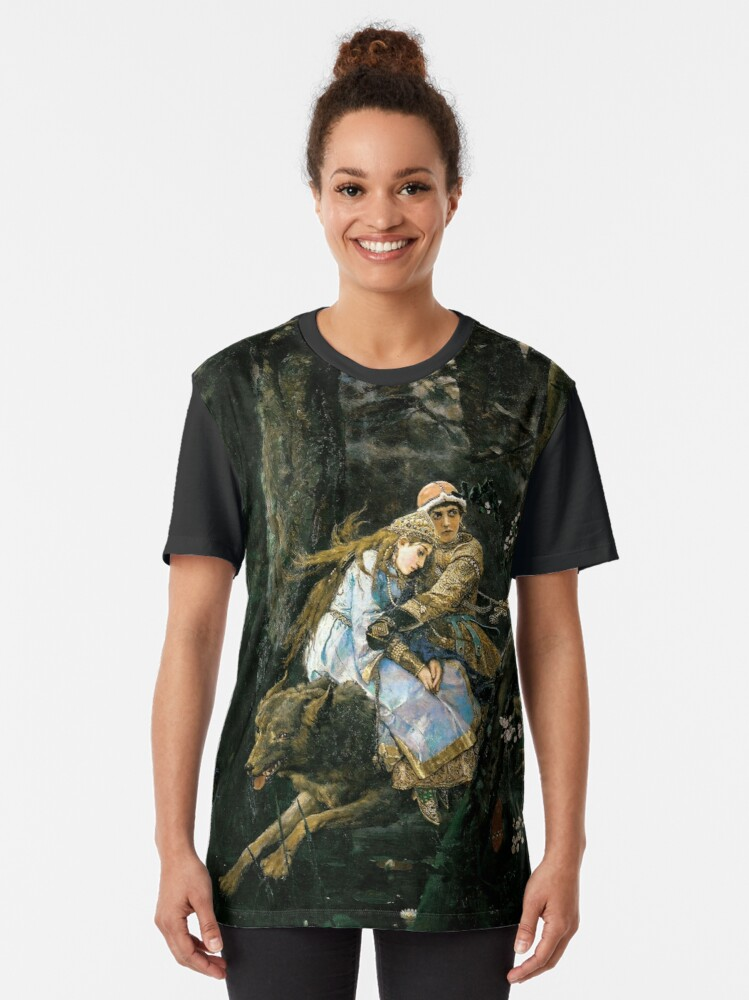 Alternate view of Ivan tsarevich riding the grey wolf Graphic T-Shirt