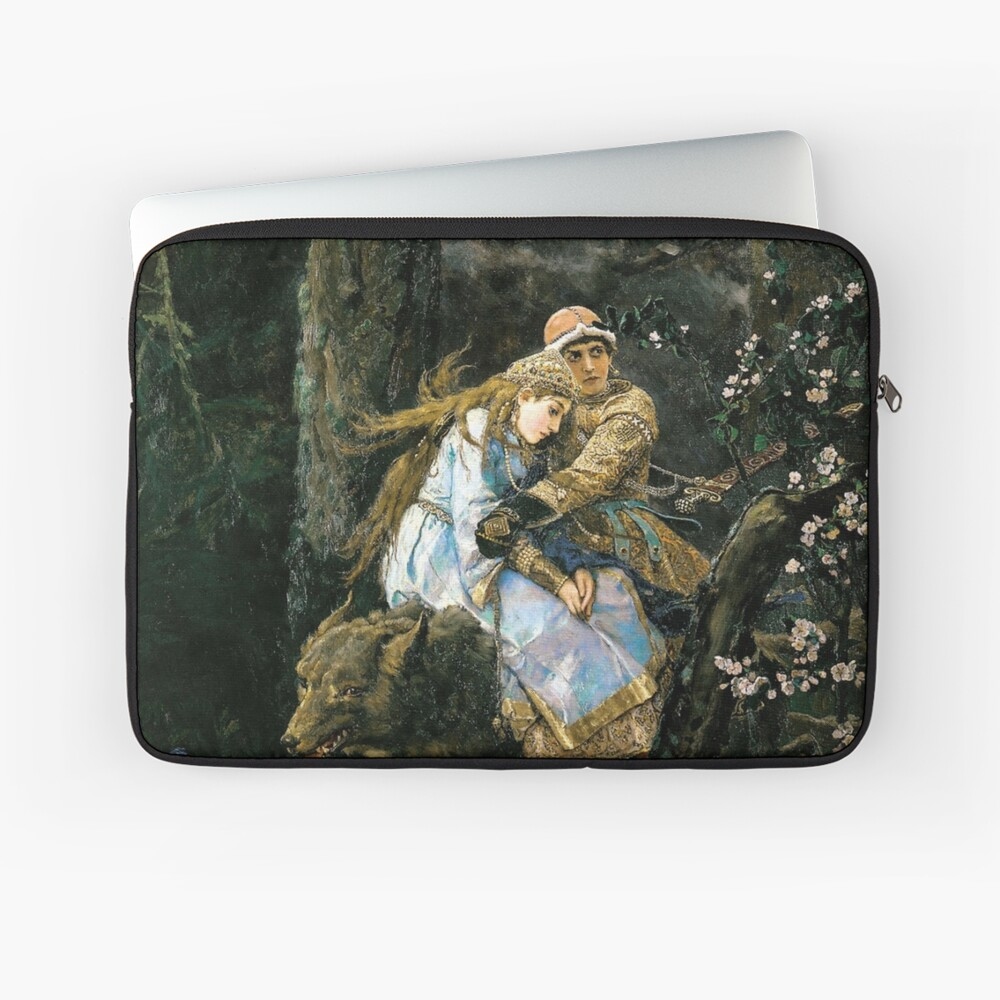 Ivan tsarevich riding the grey wolf Laptop Sleeve