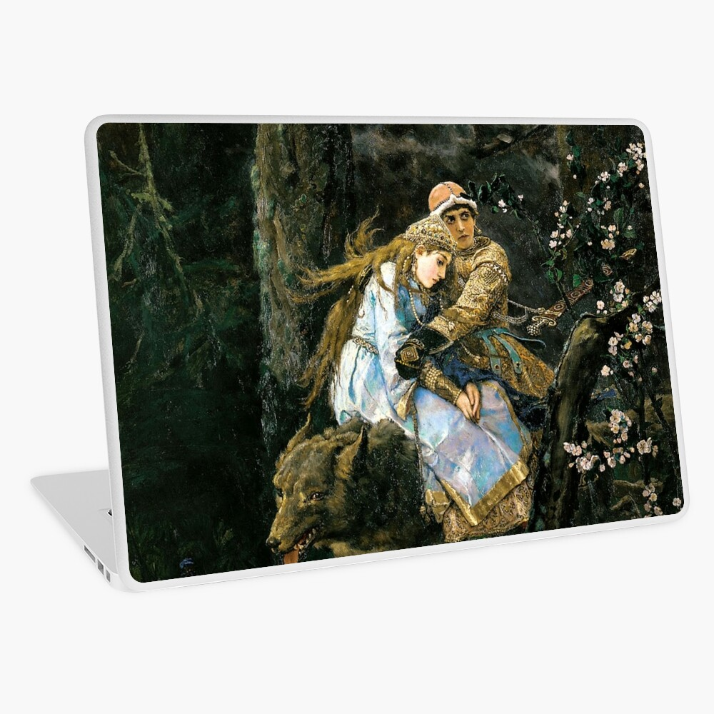 Ivan tsarevich riding the grey wolf Laptop Skin