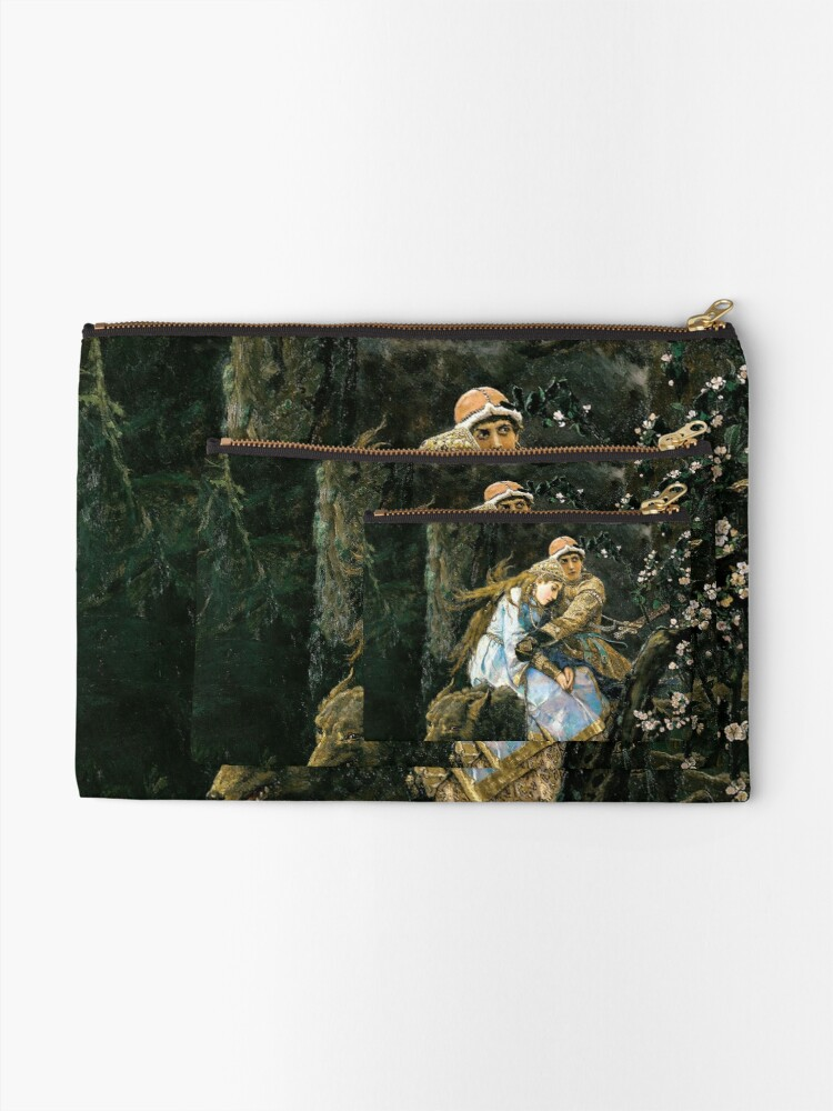 Alternate view of Ivan tsarevich riding the grey wolf Zipper Pouch