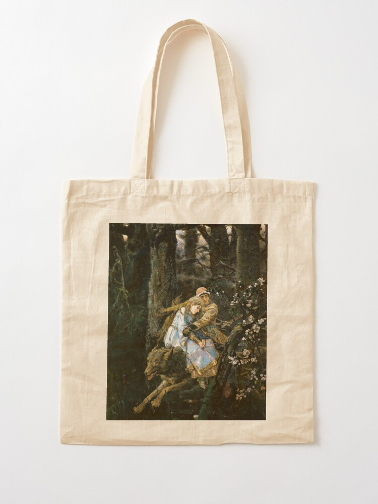 Alternate view of Ivan tsarevich riding the grey wolf Tote Bag