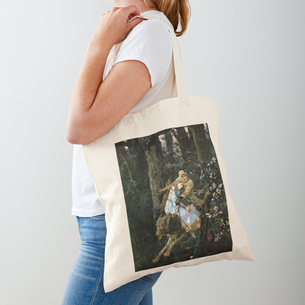 Ivan tsarevich riding the grey wolf Tote Bag