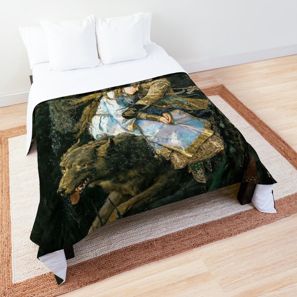 Ivan tsarevich riding the grey wolf Comforter