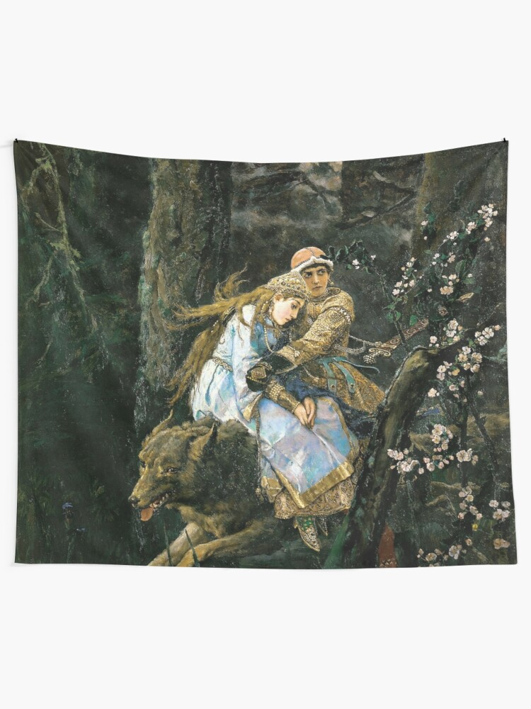 Alternate view of Ivan tsarevich riding the grey wolf Tapestry
