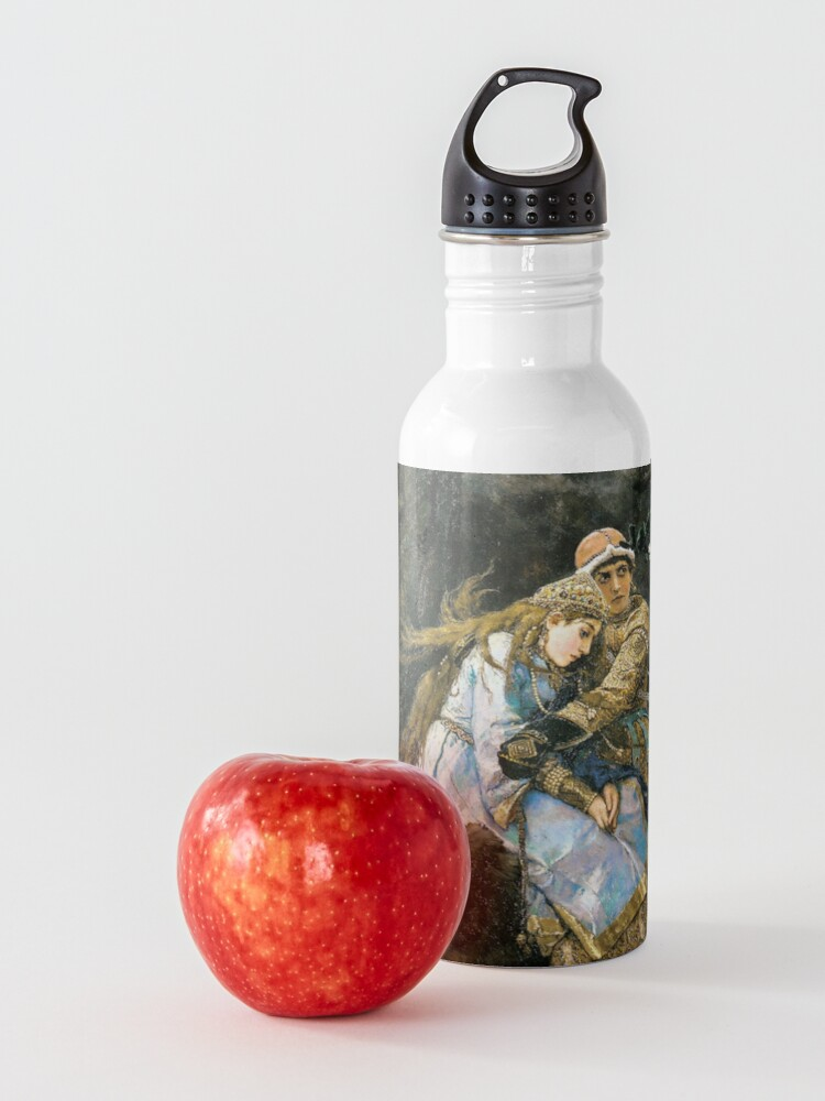 Alternate view of Ivan tsarevich riding the grey wolf Water Bottle