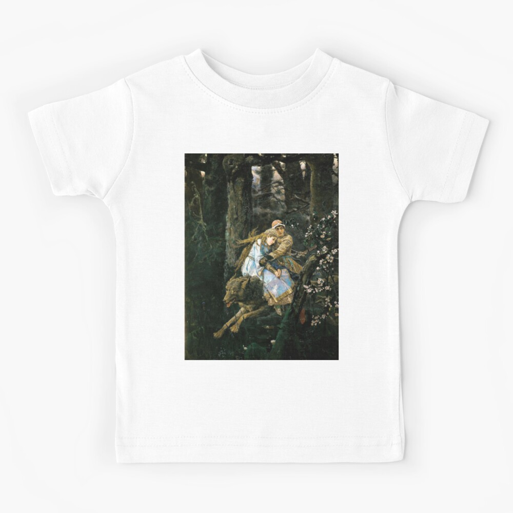 Ivan tsarevich riding the grey wolf Kids T-Shirt