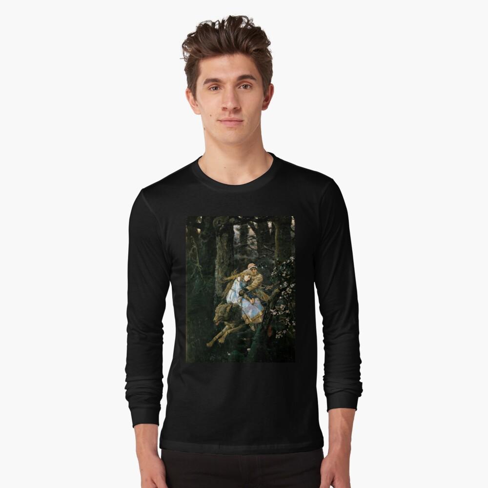 Ivan tsarevich riding the grey wolf Long Sleeve T-Shirt