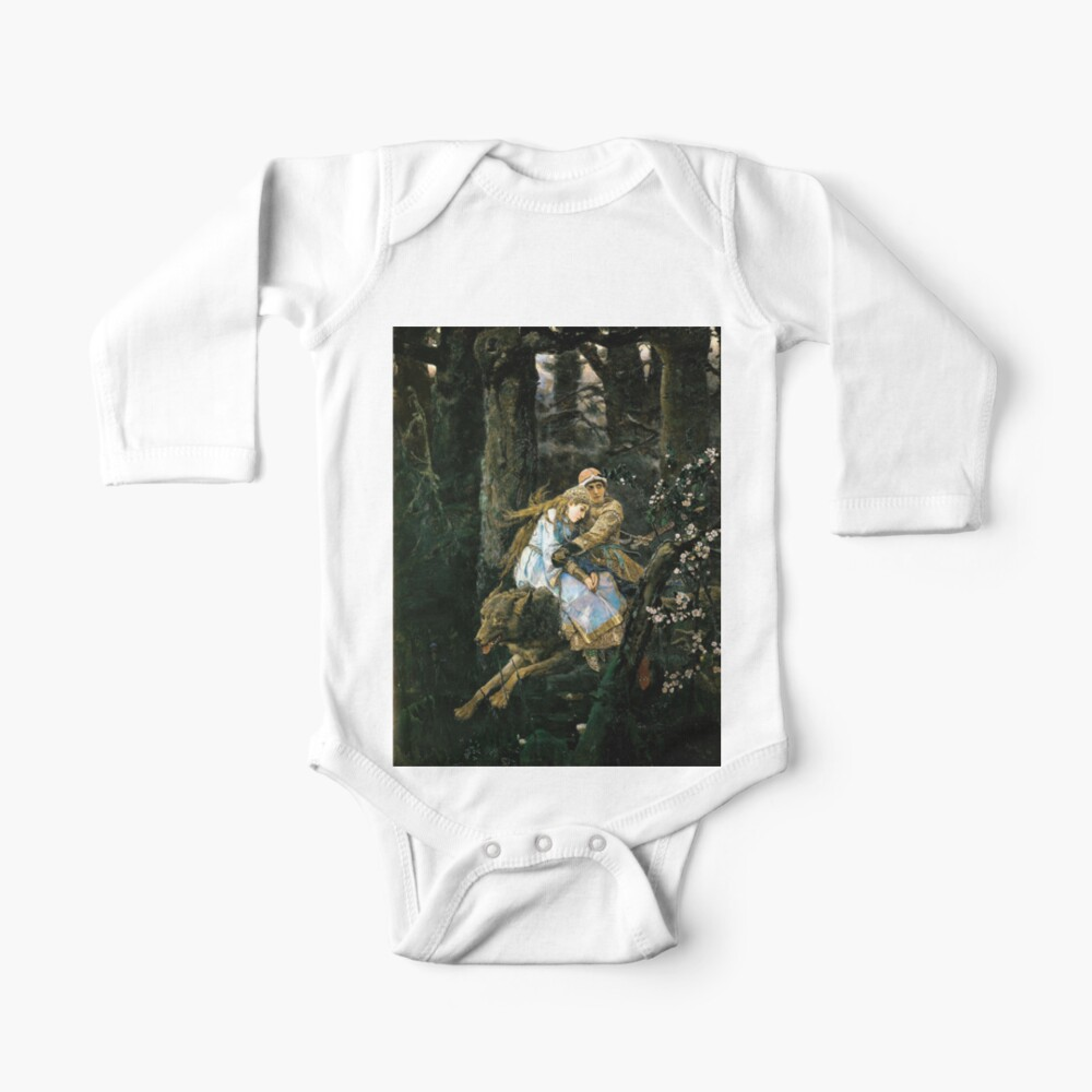 Ivan tsarevich riding the grey wolf Baby One-Piece