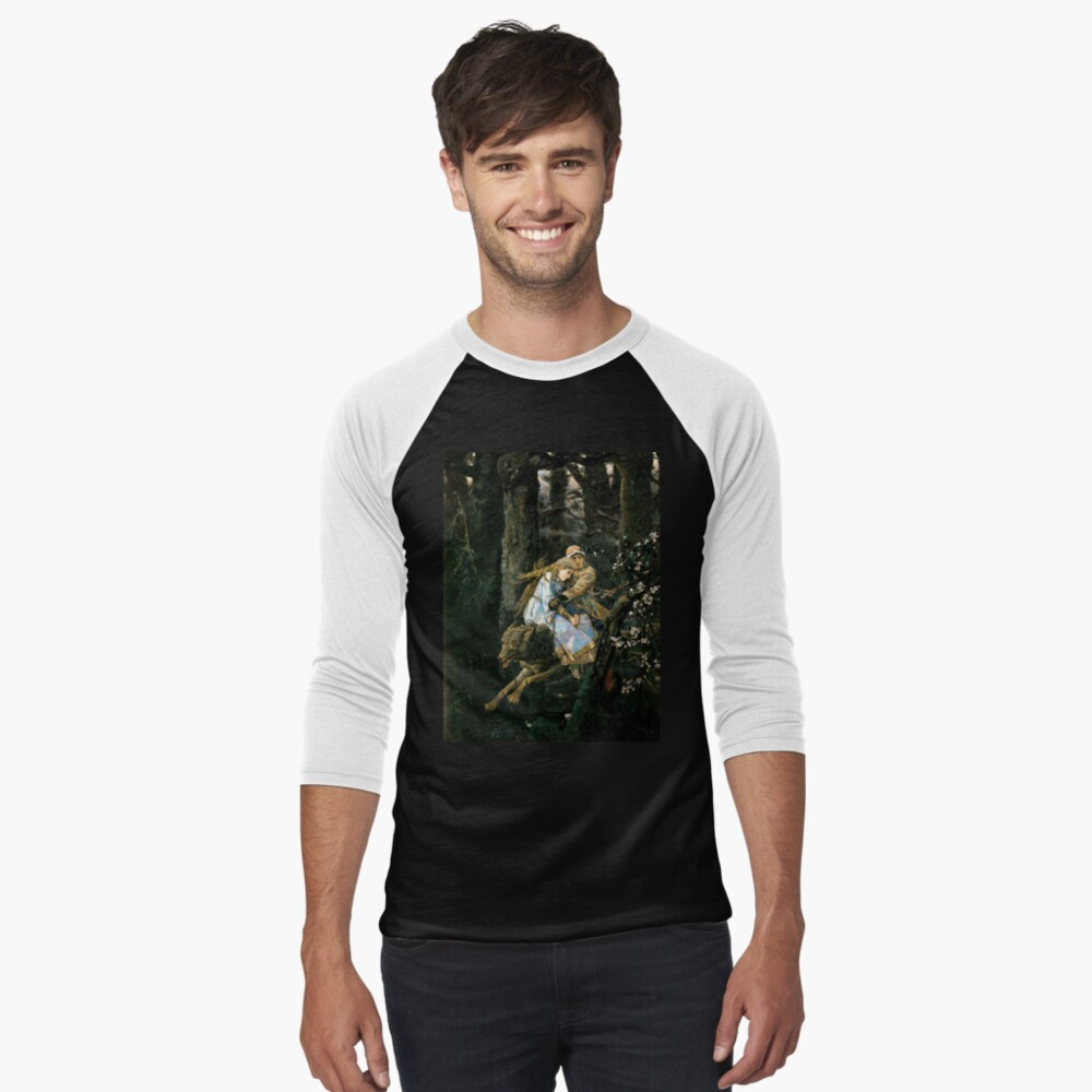 Ivan tsarevich riding the grey wolf Baseball ¾ Sleeve T-Shirt