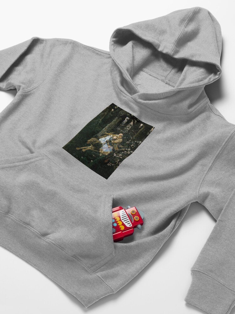 Alternate view of Ivan tsarevich riding the grey wolf Kids Pullover Hoodie